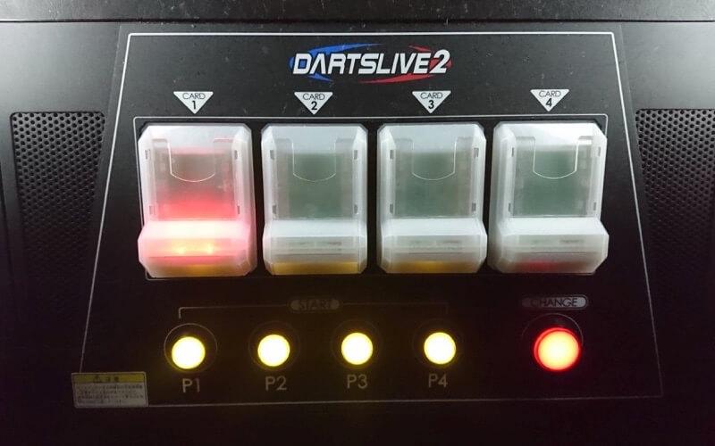 DARTSLIVEの操作ボタンの画像